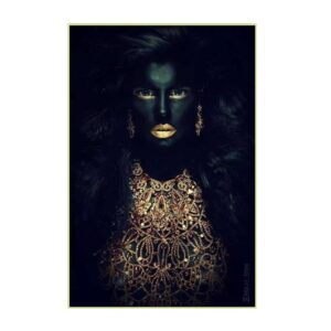 Picture 80×120 African lady No.2 with gold frame
