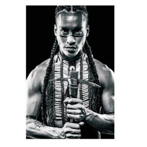 Glass picture warrior man 80×120