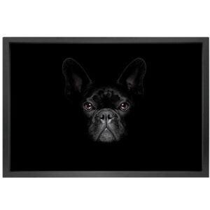 Canvas picture 5cm black frame dog 90cm x 150cm