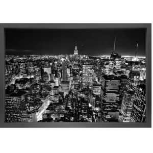 Canvas picture 5cm black frame New York 90×150