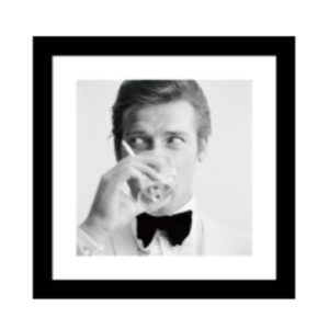 Glass picture w/frame Roger Moore 60 cm x 60cm