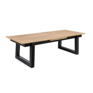 Spisebord Haag natur heltre eik B: 220, D:100, H:75+1 x 50cm