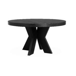 Spisebord Valencia Ø:125, H75 Sort eikefiner +2 x B60