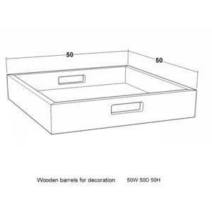 Serveringsfat – lysfat natur eik B50 H9 D50
