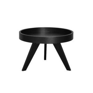 Dekorasjonsbord Ø60 H40cm sort eike finer