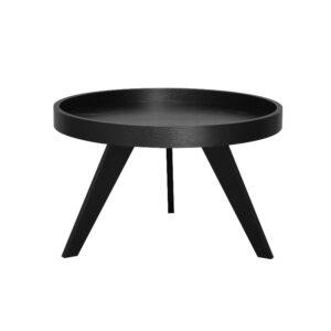 Dekorasjonsbord Ø80 H50cm sort eike finer