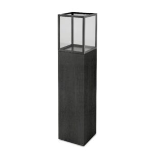 Lanterne for gulv sort eikefiner 30cmx30cmx141cm