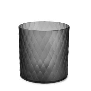 Lys safirfargeglass Victoria grey Ø20cm H20cm