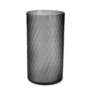 Lys safirfargeglass Victoria grey Ø20cm H36cm