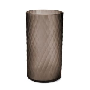 Lys safirfargeglass Victoria brown Ø20cm H36cm