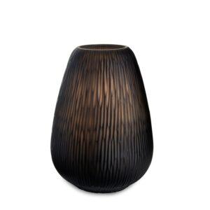 Lys safirfargeglass Montreal brown håndlaget Ø23cm H33cm