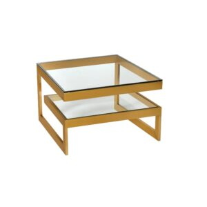 Sidebord Torino Gold / Glass 60x60x57