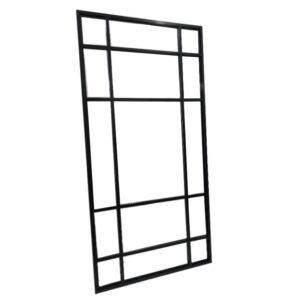 Speil Quebec sort metall ramme 180 x 90