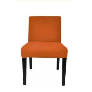 Spisestol Wien velour Orange H84cm B50cm SH48cm