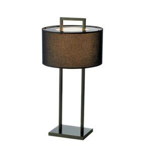 Bordlampe Aruba H70cm Rund 2 pinner sort sort skjerm