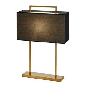 Bordlampe Aruba H65cm Firkant 2 pinner gull sort skjerm