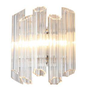 Vegg lampe Praha clear glass/gold L31 x W17 x H32.5cm