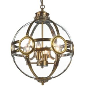 Taklampe Riga D43 x H58CM Gold clear glass