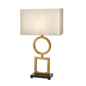 Bordlampe Riverside GoldB40xD19xH75cm skjerm hvit velur