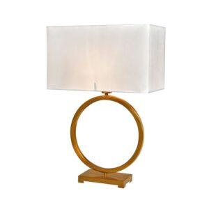 Bordlampe Fontana Gold B46xD24xH65cm skjerm hvit velur