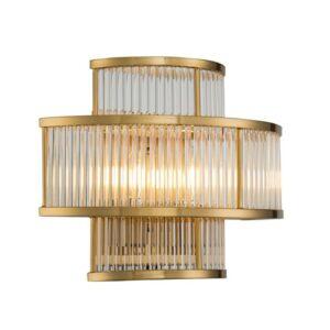 Vegg lampe Corona L35xW20xH28cm Gold clear glass