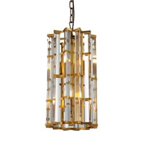 Taklampe Amarillo D25 x H45CM gold and clear glass