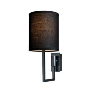 Vegg lampe Dublin L13xW18xH30CM antrasitt med sort skjerm