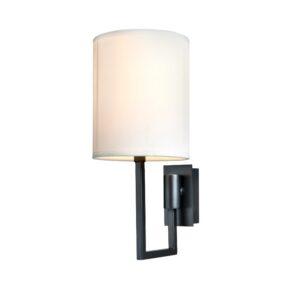 Vegg lampe Dublin L13xW18xH30CM antrasitt med hvit skjerm