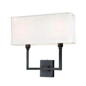 Vegg lampe Kiev L35xW15xH35CM antrasitt med hvit skjerm