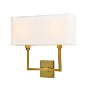 Vegg lampe Kiev L35xW15xH35CM gull med hvit skjerm