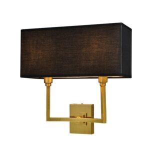 Vegg lampe Kiev L35xW15xH35CM gull med sort skjerm