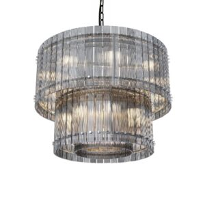 Taklampe Baltimore D88 x H70CM Grey glass