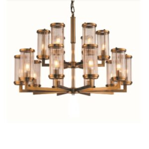 Taklampe Lafayette D75 x H73CM Gold / glass