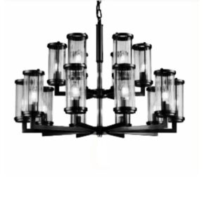 Taklampe Lafayette D75 x H73CM Black / glass