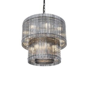 Taklampe Baltimore D60 x H46CM Grey glass