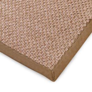 Sisal teppe beige 300x400cm med kanting