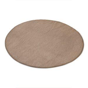 Sisal teppe beige Ø-200cm med kanting