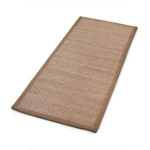 Sisal teppe beige 80x200cm med kanting