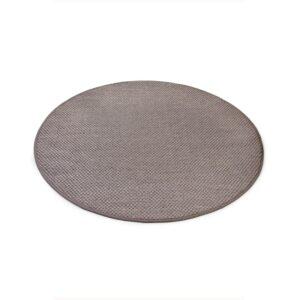 Sisal teppe taupe Ø-160cm med kanting