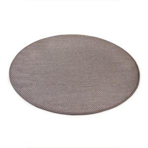 Sisal teppe taupe Ø-200cm med kanting