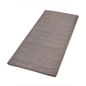 Sisal teppe taupe 80x200cm med kanting