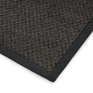 Sisal teppe black 300x400cm med kanting