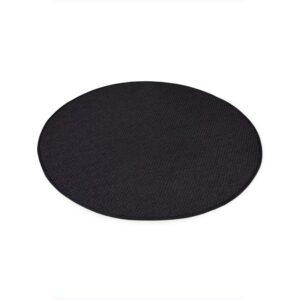 Sisal teppe black Ø-160cm med kanting