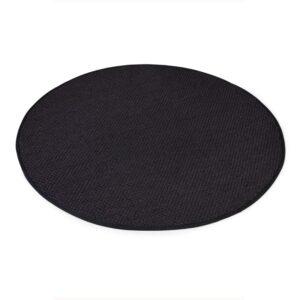 Sisal teppe black Ø-200cm med kanting