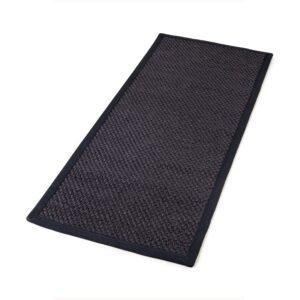 Sisal teppe black 80x300cm med kanting