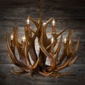 Chandelier deer large / Lysekrone hjort stor 80×65