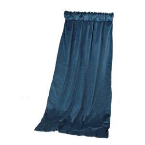 Gardinhøyde 140cm x 240cm 15cm rynkeb m/fòr Petroleum Blue