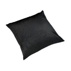 Pute 55cm x 55cm Velour Black Inkl. Dun/fjær innmat