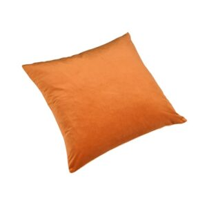 Pute 55cm x 55cm Velour Orange Inkl. Dun/fjær innmat