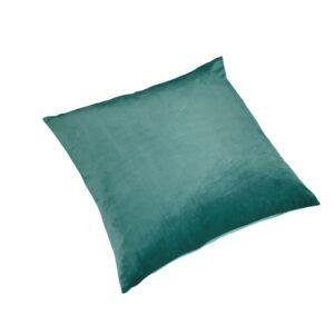 Pute 55cm x 55cm Velour Light Sea Green Inkl.Dun/fjær innmat